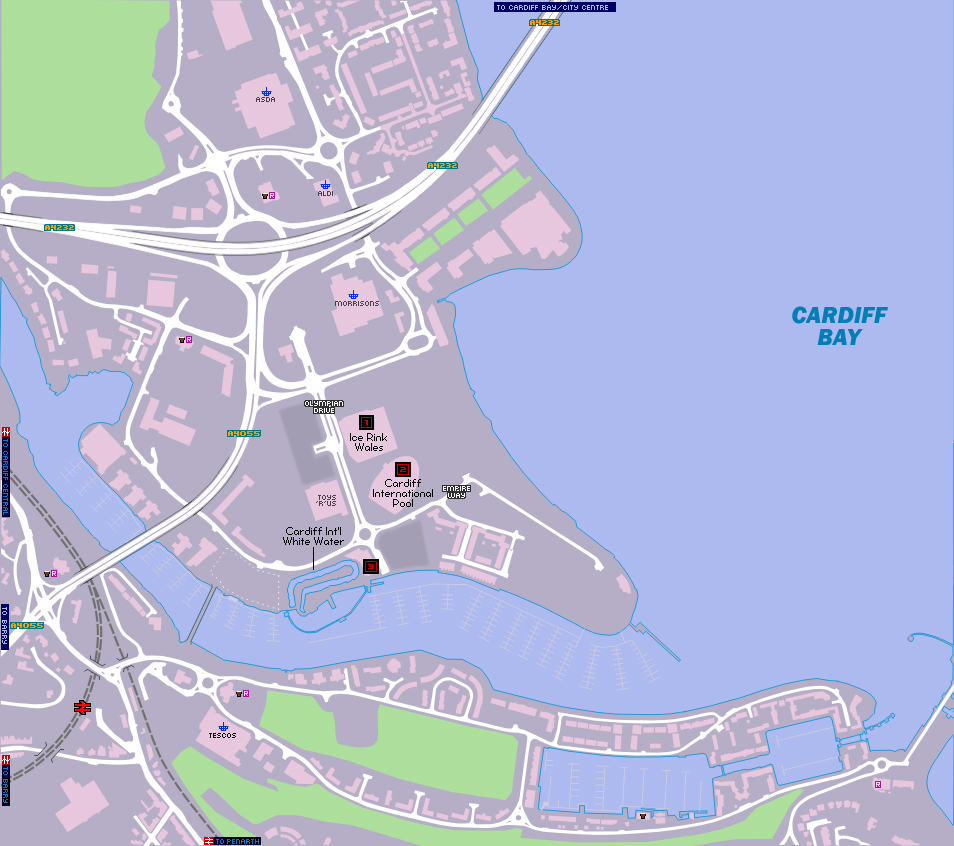 Map Of Cardiff Bay CARDIFF SPORTS VILLAGE